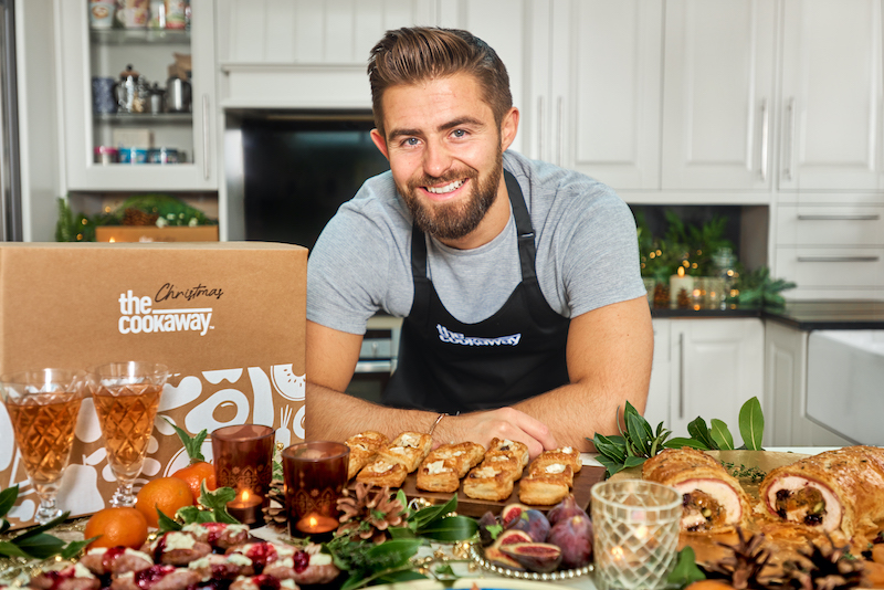 Jack Lucas with his Christmas Cookaway