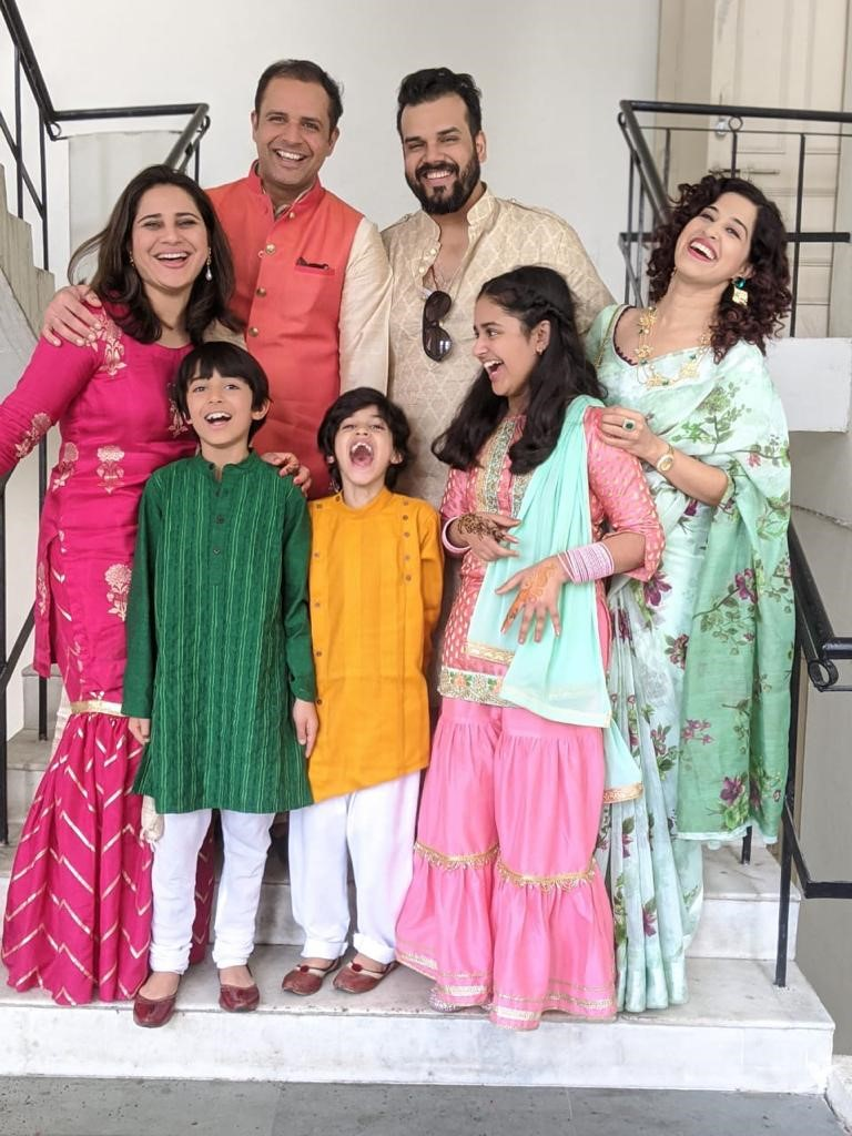 Chef Nidhi Verma and her family celebrating Diwali