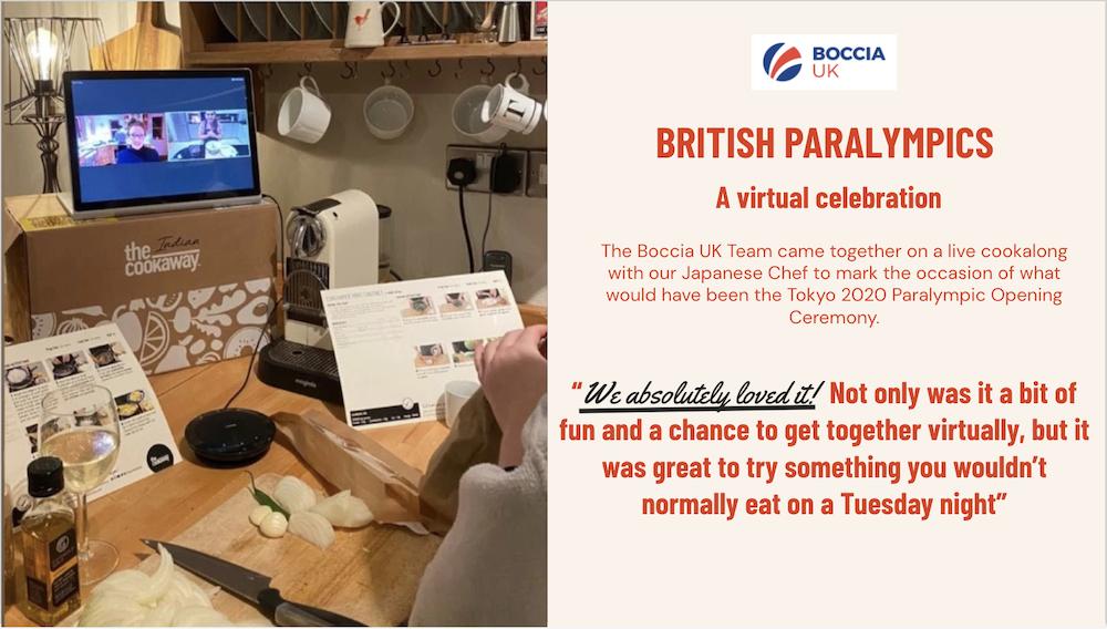 Virtual team building british paralympics